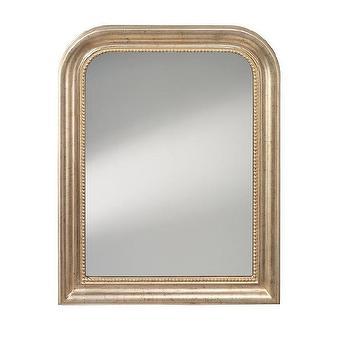 Distressed Silver Leaf Mirror