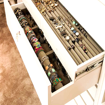 Closet with Jewelry Drawers, Transitional, Closet