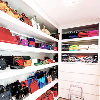 Closet with Bag Shelves, Transitional, Closet