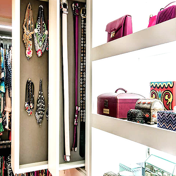 Pull Out Vertical Jewelry Cabinets, Transitional, Closet
