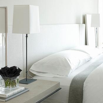 White and Gray Bedrooms, Modern, Bedroom, Mali Azima