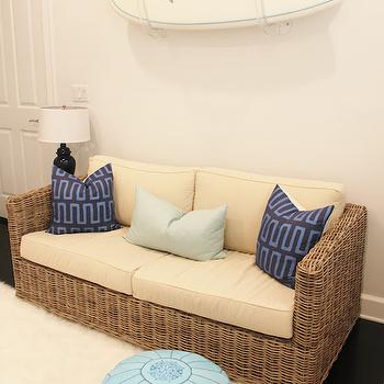 Nursery with Wicker Sofa, Transitional, Nursery, Luxe Report