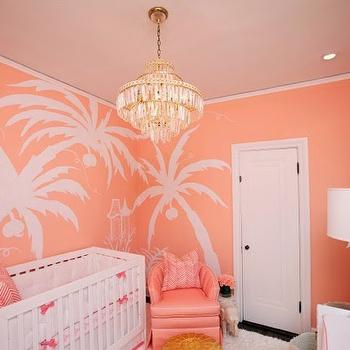 Nursery with Coral Paint, Hollywood Regency, Nursery, Sherwin Williams Jovial, Luxe Report