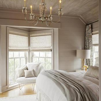 White and Taupe Bedrooms, Cottage, Bedroom, Charleston Magazine