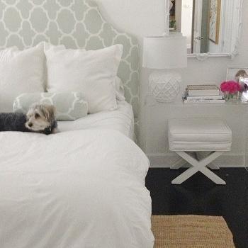 Acrylic Nightstand, Transitional, Bedroom, Luxe Report