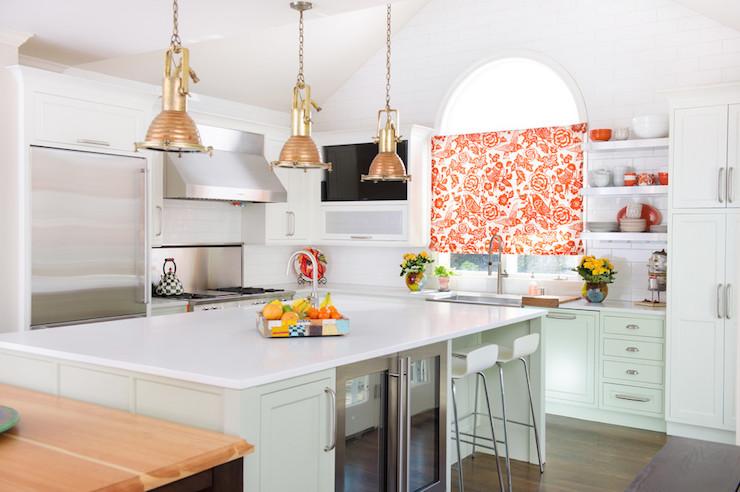 Pure White Quartz Countertops Vintage Kitchen