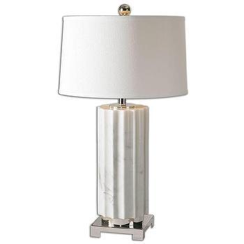 Castorano 1-light White Marble Table Lamp