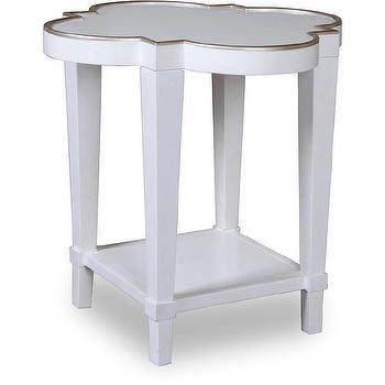 Cosmopolitan Parchment Shaped End Table