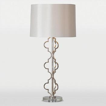 Dynasty 1 light Silver Leaf Table Lamp