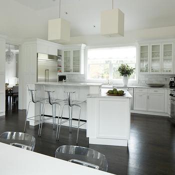 Angled Kitchen Island, Transitional, Kitchen, Weitzman Halpern Design