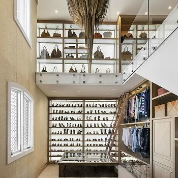 Two Story Closet, Contemporary, Closet, Red Rock Contractors