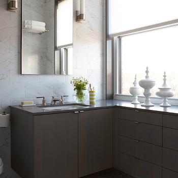 Floating Bathroom Vanity, Contemporary, Bathroom, Weitzman Halpern Design