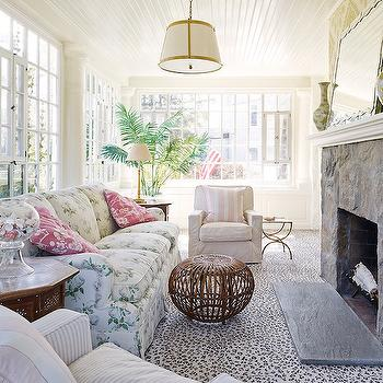 Shabby Chic Sunrooms, Cottage, Living Room