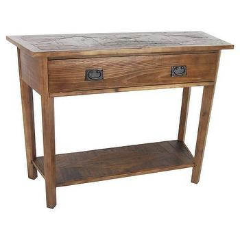 Alaterre Revive Reclaimed Wood Console Table, Natural