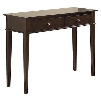 Carlton Console Table, Tobacco Brown