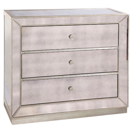 Bassett Mirror Murano 3 Drawer Hall Chest Look for Less