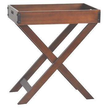 Threshold Accent Tray Table, Brown