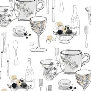 Inspired By Color GRAPHIC TABLEWARE KB8575 Wallpaper
