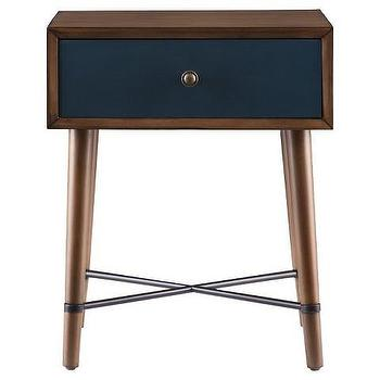 Galena Accent Table, Blue Table