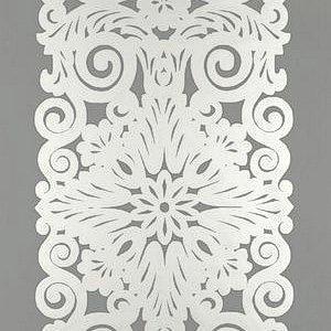 Schumacher Graphic Panel Stripe Smoky Silver Wallpaper