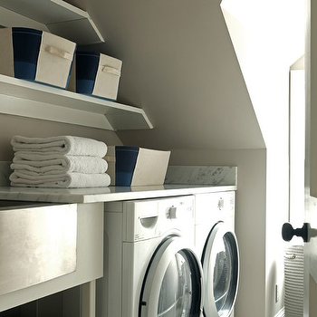 Washer and Dryer in Nook, Transitional, Laundry Room