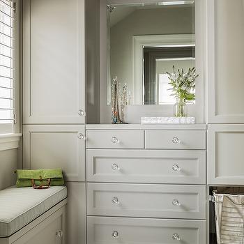 Gray Closet Cabinets, Transitional, Closet