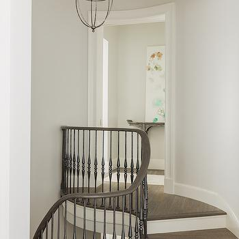 Curved Staircase, Transitional, Entrance/foyer
