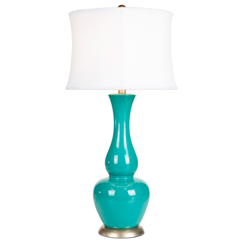 Surya Turquoise Ceramic Table Lamp Look for Less