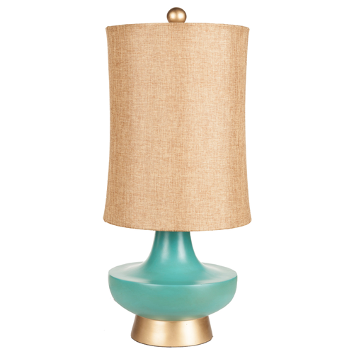 Surya Urn Aged Turquoise Table Lamp Look for Less