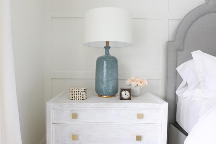 Aerin Culloden Blue Lagoon Table Lamp Transitional