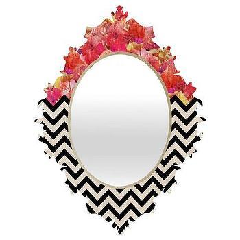 Chevron Flora 1 Baroque Mirror