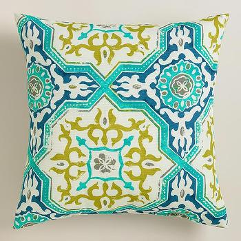 Sufi Tiles Outdoor Throw Pillow