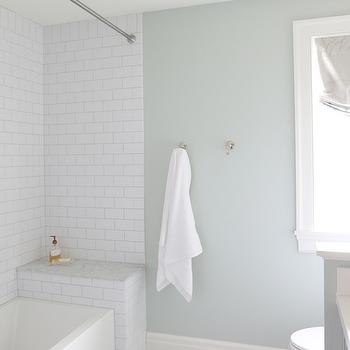 Soothing Paint Colors for Bathrooms, Transitional, Bathroom, Sherwin Williams Sea Salt