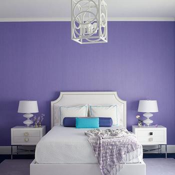 White and Purple Bedroom, Contemporary, Bedroom, Weitzman Halpern Design