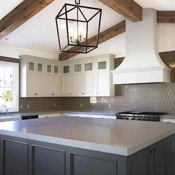 Kitchen with Gray Backsplash, Transitional, Kitchen