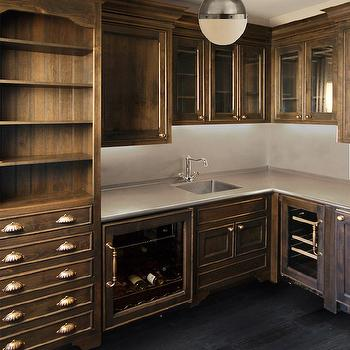 Butlers Pantry with Dark Cabinets, Transitional, Kitchen