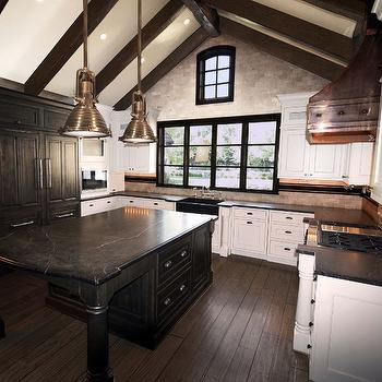 Kitchen with Cathedral Ceiling, Transitional, Kitchen
