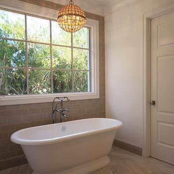 Gray Chevron Floor Tiles, Transitional, Bathroom