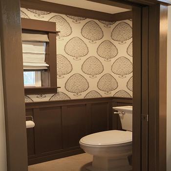 Taupe Powder Rooms, Transitional, Bathroom