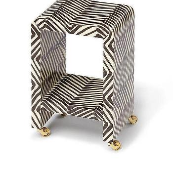 Jean Michele Frank Waterfall Style Table Custom, white and black