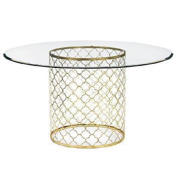 Regina Andrew Furniture Mosaic Antique Gold Leaf Dining Table