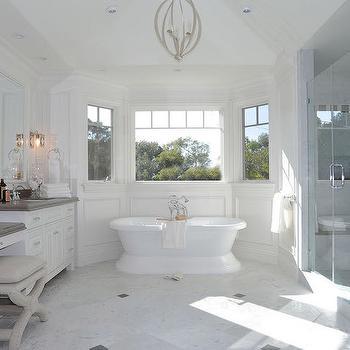Bay Window Tub, Transitional, Bathroom