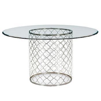 Regina Andrew Furniture Mosaic Polished Nickel Dining Table