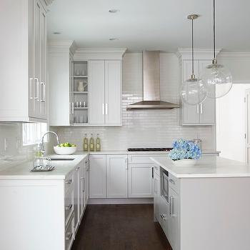 Light Gray Center Island, Transitional, Kitchen