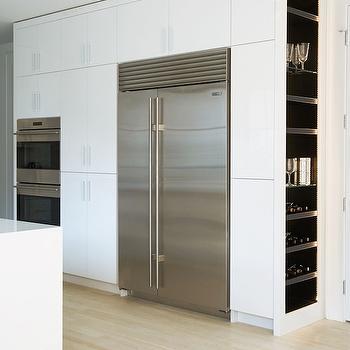Kitchen with Built In Wine Racks, Modern, Kitchen