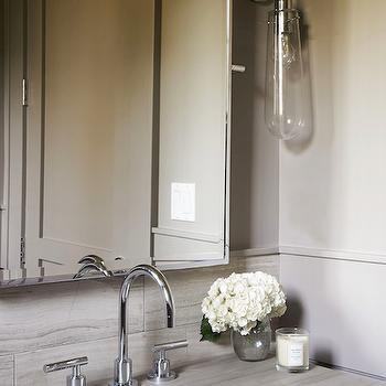 Modern Gray Bathrooms, Modern, Bathroom