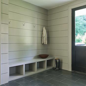 Modern Gray Mudrooms, Modern, Laundry Room