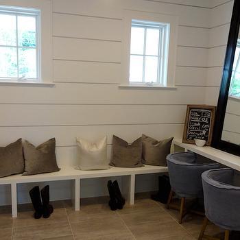 Shiplap Mudroom Ideas, Transitional, Laundry Room