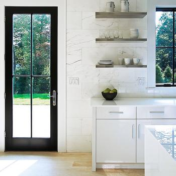 Stainless Steel Floating Kitchen Shelves, Modern, Kitchen