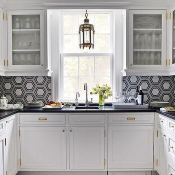 Kitchen with Hex Backsplash, Contemporary, Kitchen